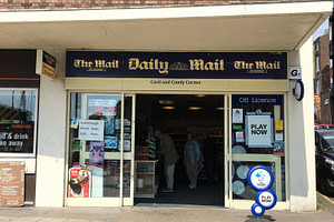 Newsagent, confectionery, tobacconist, off licence, lottery sales